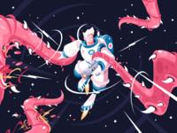 Astronaut vs alien kit8net