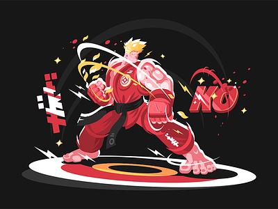 Karate man in kimono kit8 flat vector illustration character sportsman kimono man karate