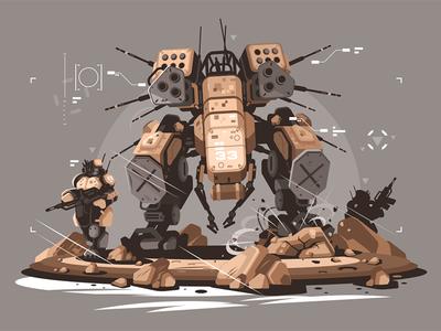 Drone escort infantry