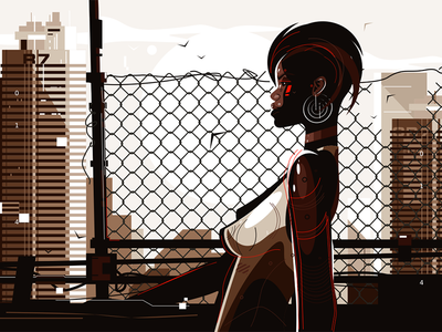African american woman kit8 flat vector illustration character woman american african pretty