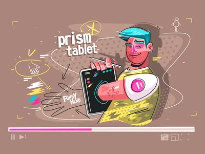 Through tablet prism