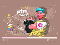 Through tablet prism