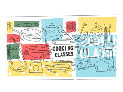 Cooking classes banner template