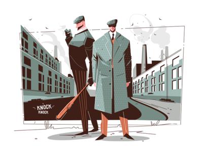 Gentlemen in elegant suits kit8 flat vector illustration character suit elegant guy man gentlemen