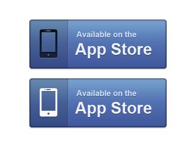 Download App button blue appstore iphone app big button