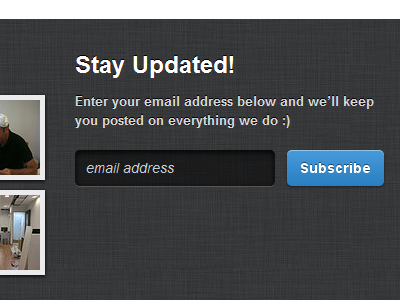 Subscribe subscribe form newsletter button blue inset black