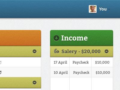 Income web app finance money texture
