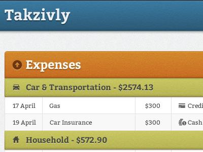 Expenses web app finance money texture