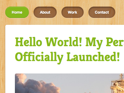 Personal blog is live! blog personal wood green launch