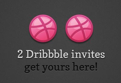 2 Dribbble Invites dribbble invite pink