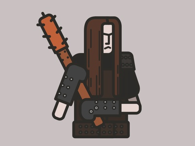Burzum vector occult blackmetal stroke flat icon character illustration