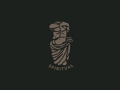 Spiritual vintage man stamp spirit coin roman antic statue sculpture greek