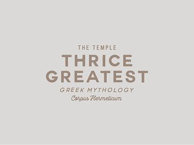 Hermes Trismegistus script branding identity font type logo signpainting typography greek coin