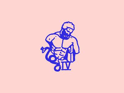 Snake raw mystic symbol snake roman vintage stamp sculpture antic greek