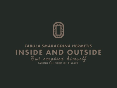 Inside and outside font raw symbol mystic vintage logo typography signpainting type greek coin alchemy
