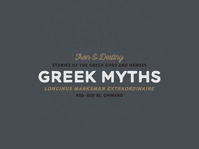 Greek myths ancient font logo typography type signpainting retro myths greek