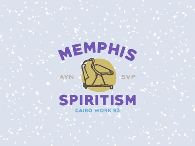 «Cairo Working» occult retro vector logo egypt vintage font bird typography type signpainting memphis