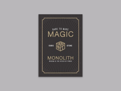 Order of the Cubic Stone vintage cube stamp signpainting typography font book vector magic