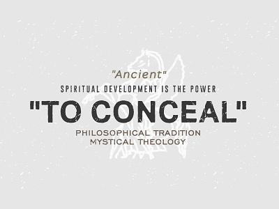 """Spiritual Development"" retro signpainting typography logo deus vintage stamp greek"