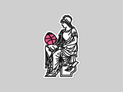 Dribbble Playoff roman ancient goddess stamp raw graphic dribbble mystic greek
