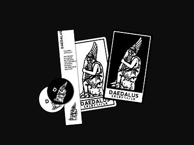 Daedalus 01 branding roman antic vintage stamp logo illustration greek