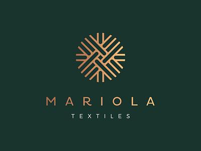Mariola textiles textile logotype texture logo fabric textil