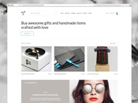 Store homepage