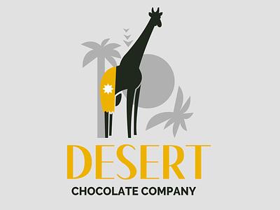 chocolate company logo desert adobe illustrator adobe photoshop graphicdesign gesign graphic logo design logo