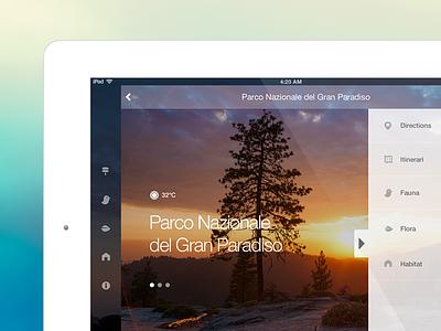 Natural Parks App for iOS7 ios7 ipad ios parks nature