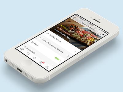 Food App io7 navigation minimal iphone restaurant reviews tabbar