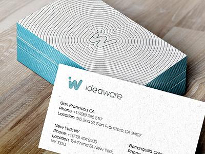 Ideaware Bizcards print letterpress business cards