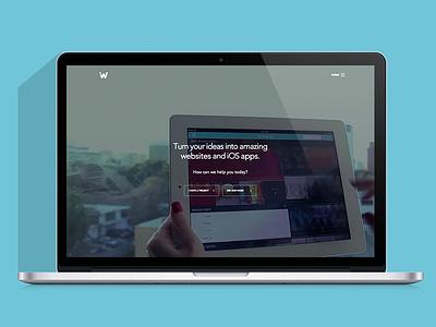 The new ideaware website! website landing responsive html5 video cta