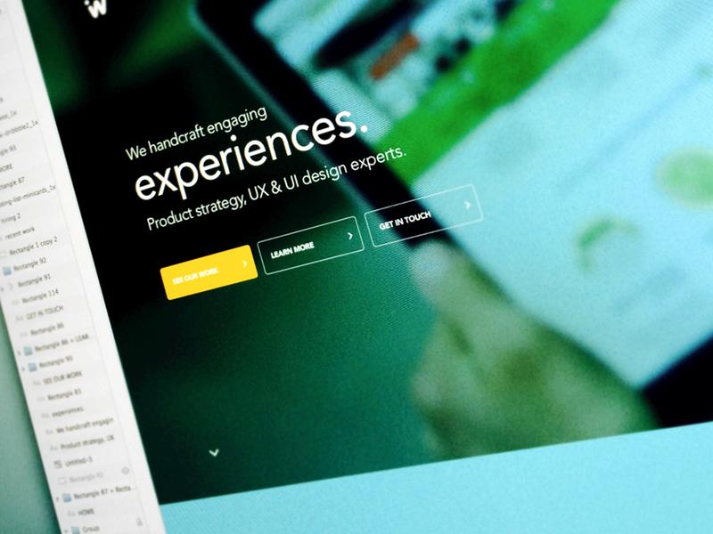 Updating the Ideaware homepage agency homepage ideaware ux design landing