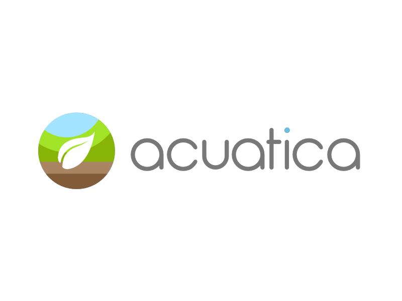 Aquatica Logo logo leaf water green aquarium