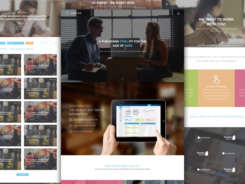 Vearsa.com Redesign blog wordpress landing page marketing website