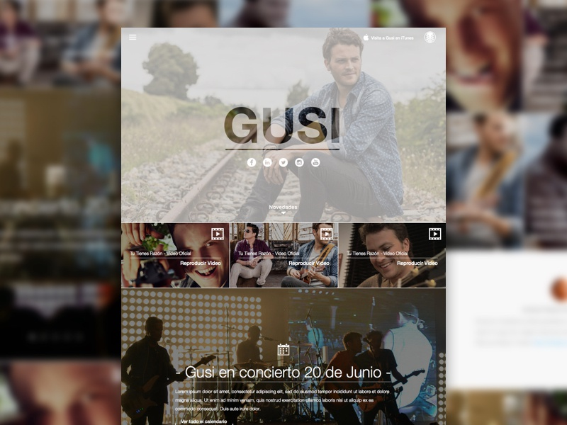Artist website music artist responsive landing website