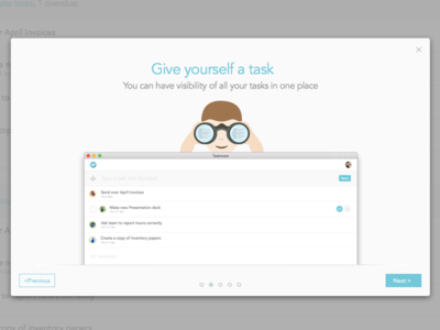 New Taskware Onboarding responsive onboarding team projects list tasks