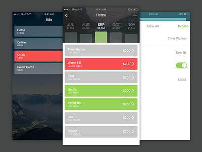 New Billet for iOS bills money bank banking ios9 app ios finances