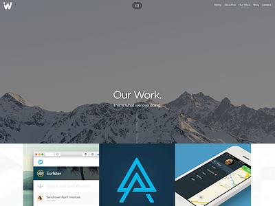 The new Ideaware Website header case study work portfolio agency