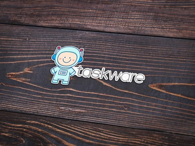 New logo and mascot for taskware logo web app tasks project management task