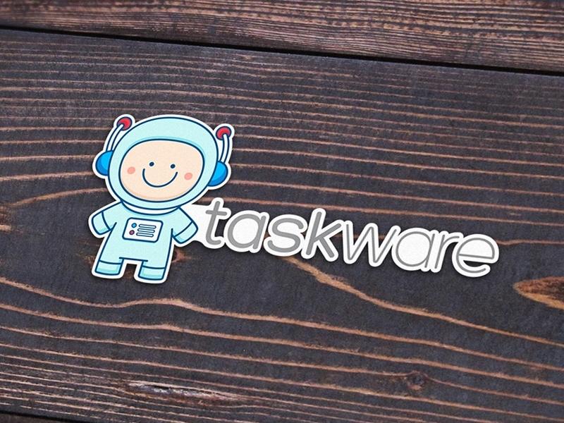New logo and mascot for taskware logo web app tasks project management task
