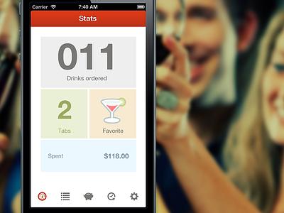 Drinklist Dash ideaware ios iphone drinks drink tab