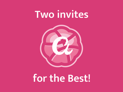 Two Invites logo logodesigner designer best invites dribbble