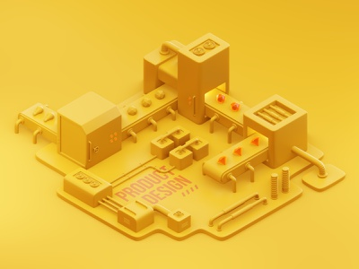 product design factory graphic design design lowpoly isometric factory product design 3d illustration