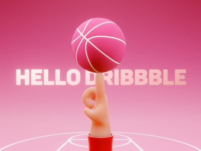 hello dribbble lowpoly hand hello dribbble 3d art design 3d illustration