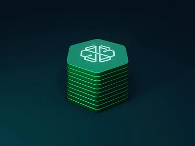 swissborg logo animation bitcoin crypto motion graphics logo animation 3d
