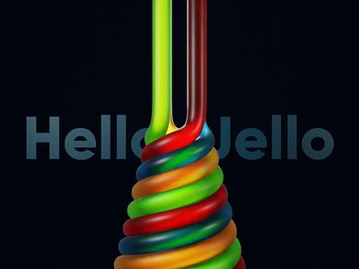 Hello Jello branding 3d art hello jelly loop motion graphics animation 3d