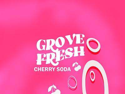 GROVE FRESH SODA CAN DESIGN branding illustration logo design sketch product design can design soda