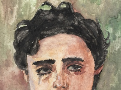 TIMOTHEÉ CHALAMET WATERCOLOR PORTRAIT portrait illustration watercolor painting watercolor paintings sketch illustration