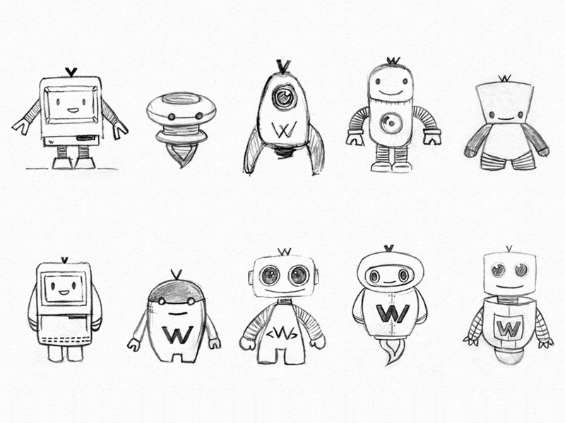 Character Design Tips Tattoo : Robots by lau luppani dribbble
